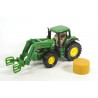 John Deere with haybale grabber