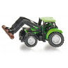 Deutz with front loader and tree