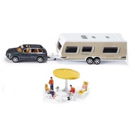 Porsche Cayenne with caravan