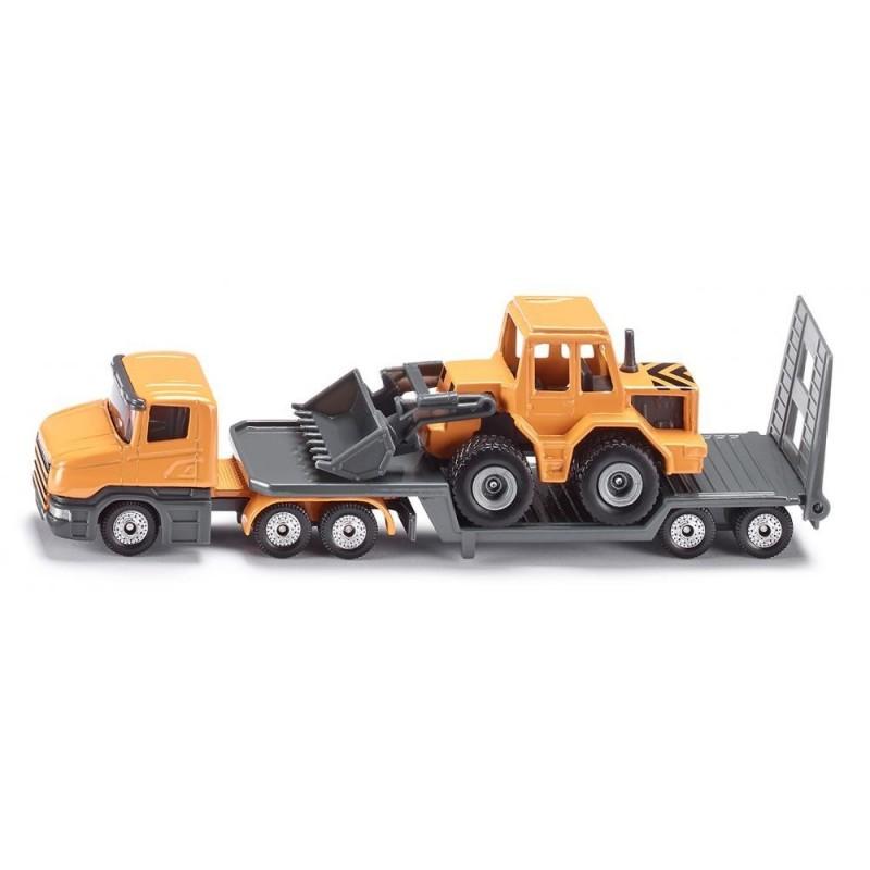 Scania met dieplader en shovel