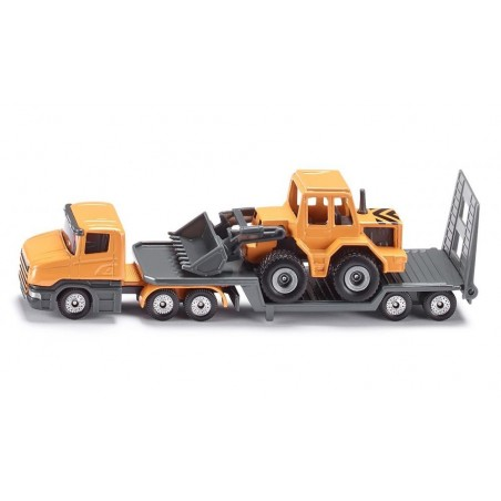 Scania low loader with front loader