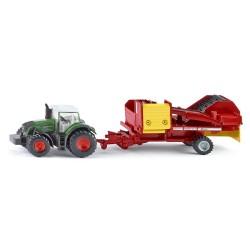 Fendt tractor met aardappelrooimachine