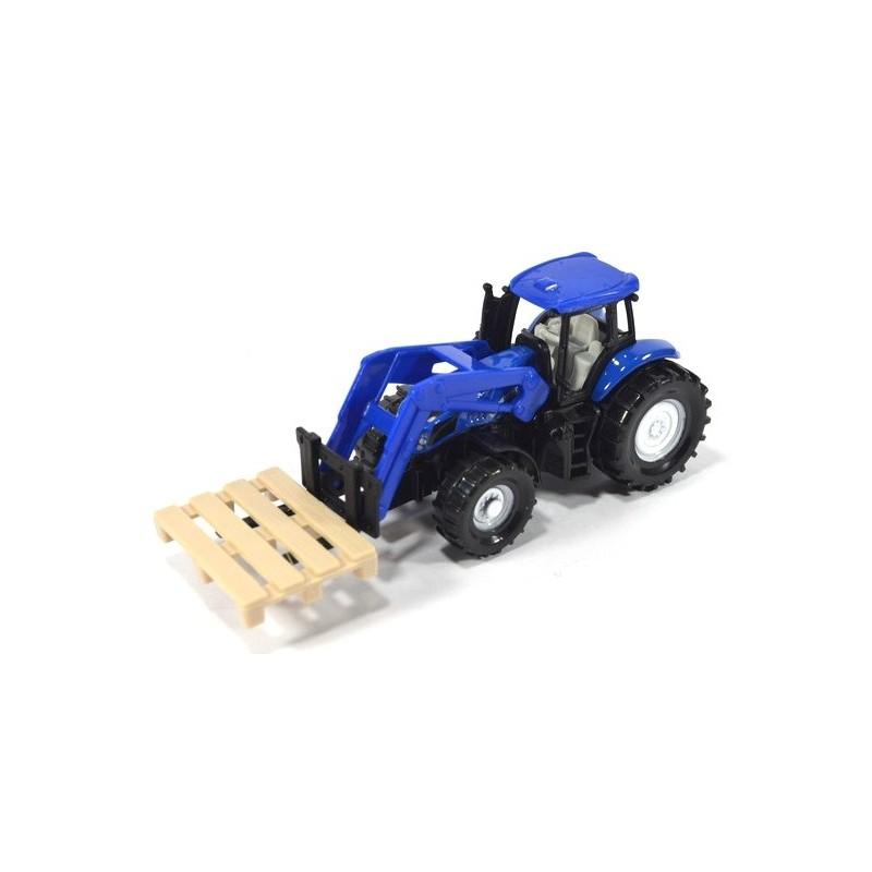 New Holland Traktor mit Palettengabel u. Palette
