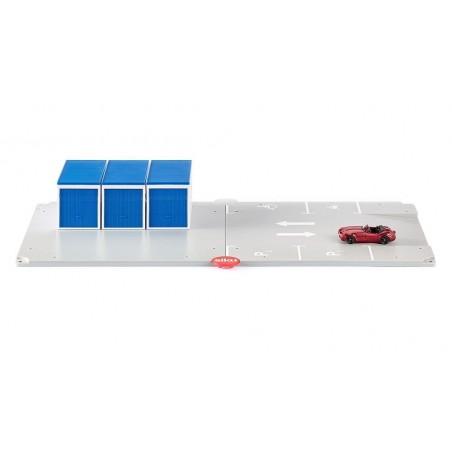 Garages met parkeerplaats met metallic rode Wiesmann GT cabriolet