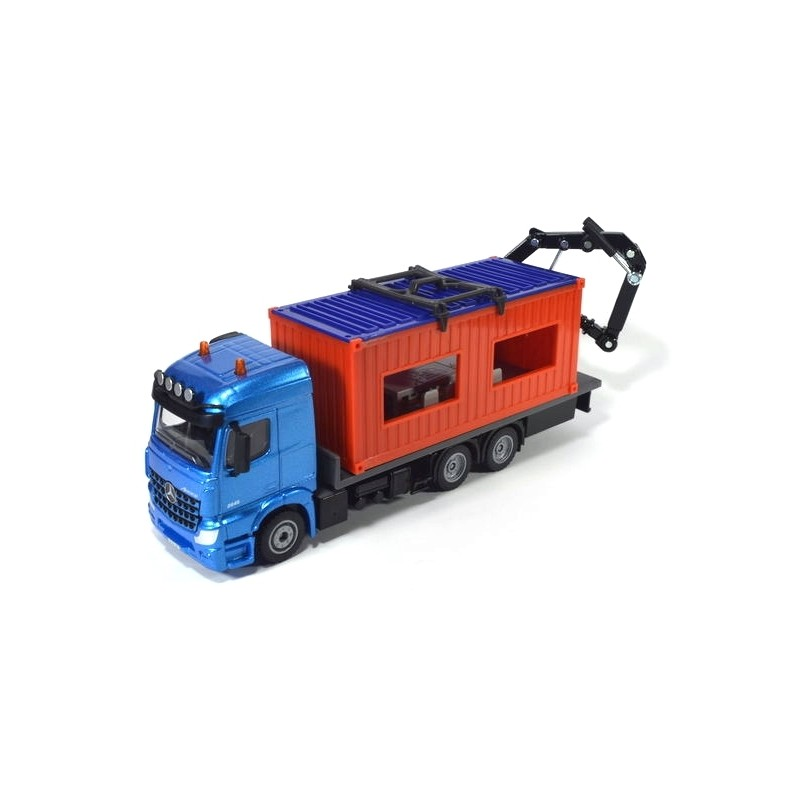 Mercedes-Benz with construction container