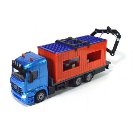Mercedes Arocs avec conteneur de chantier