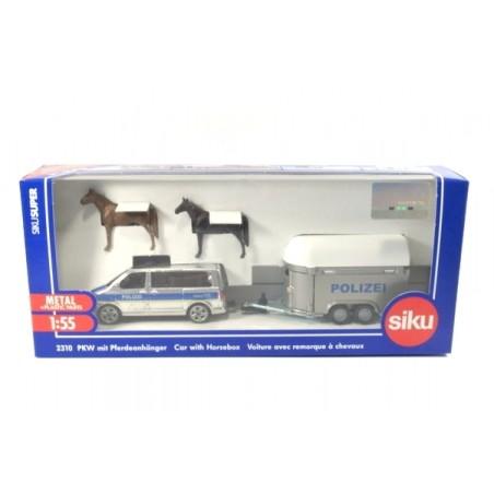 Volkswagen T5 Facelift Polizei with horse trailer
