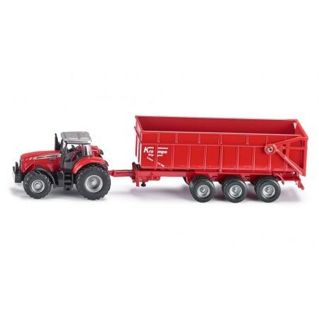 Tracteur Massey Ferguson avec remorque