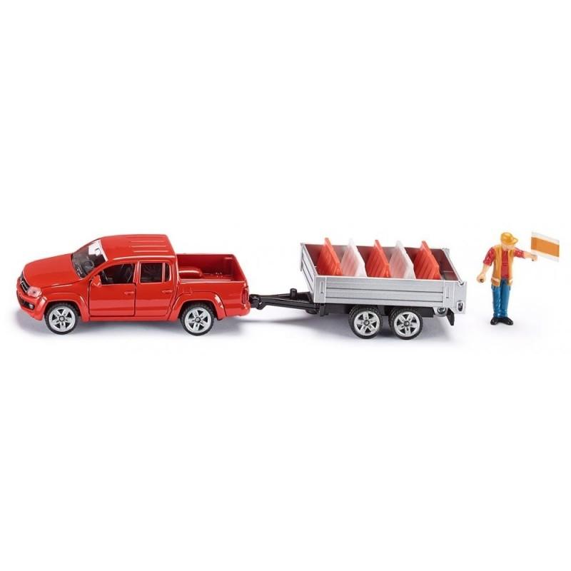 Volkswagen Amarok met kiepende aanhanger