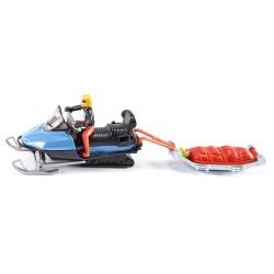 Sneeuwscooter met reddingsslee