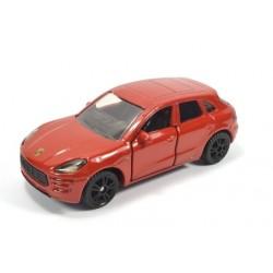 Porsche Macan Turbo, red