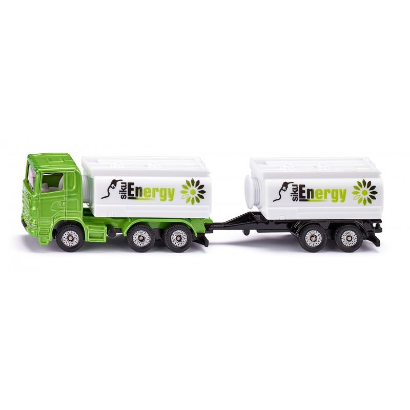 Camion-citerne et remorque