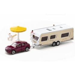 Porsche Macan avec caravane