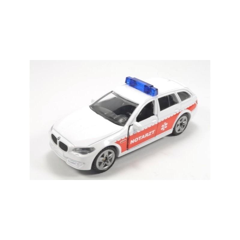 BMW 520i Notarzt met bedrukte achterlichten en hoge zwaailichtbalk
