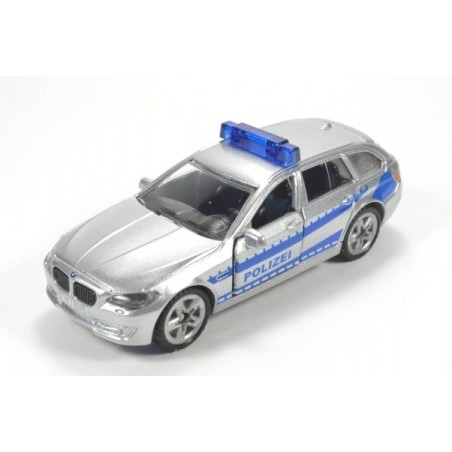 BMW 520i Touring Polizei mit aufgedruckten Rückleuchten und hohe Blaulichtleiste