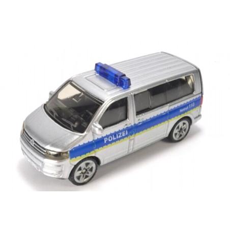 Volkswagen T5 Facelift Polizei avec barre de lumière bleue haute