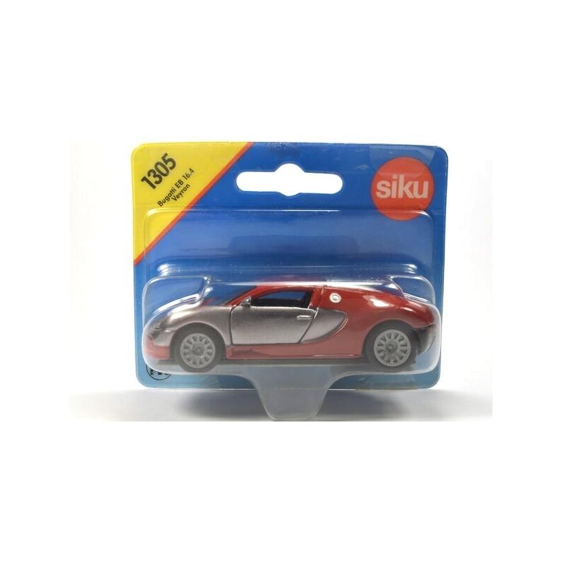 Bugatti EB 16.4 Veyron zilver en rood