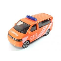 Volkswagen T5 Pompiers avec barre de lumière bleue haute