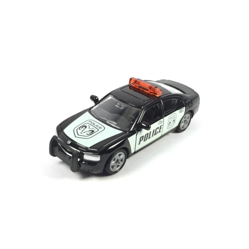 Dodge Charger US Police with high blue light bar