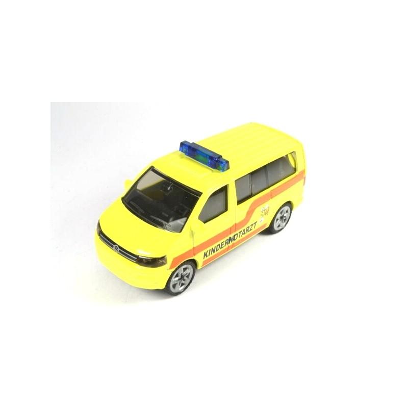 Volkswagen T5 Facelift Kindernotarzt  mit hohe Blaulichtleiste