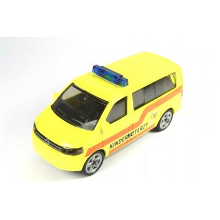 Volkswagen T5 Facelift Kindernotarzt met hoge zwaailichtbalk