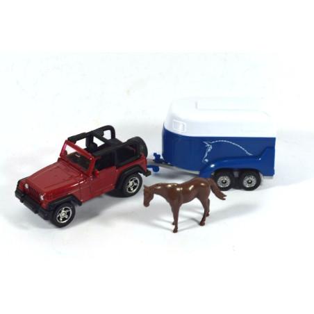 Jeep mit Pferdeanhänger