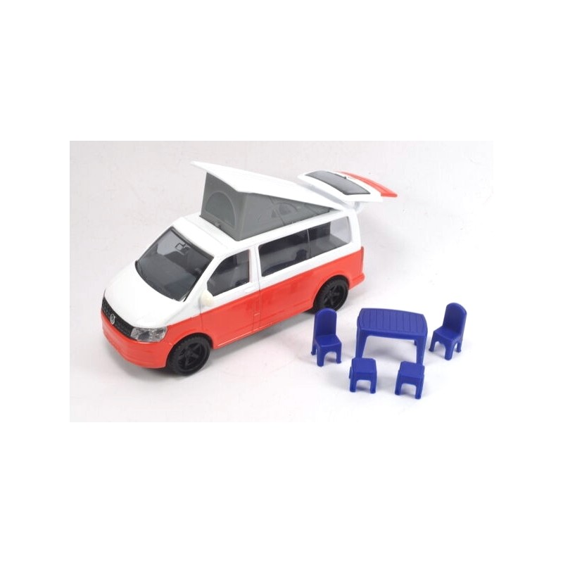 Volkswagen T6 California with movable roof and garden furniture