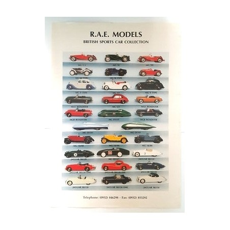 R.A.E. Models vintage poster