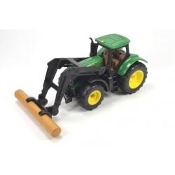 John Deere met boomstammengrijper
