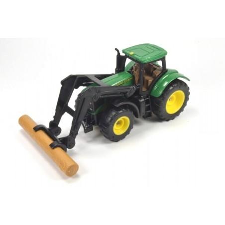 John Deere with log grabber