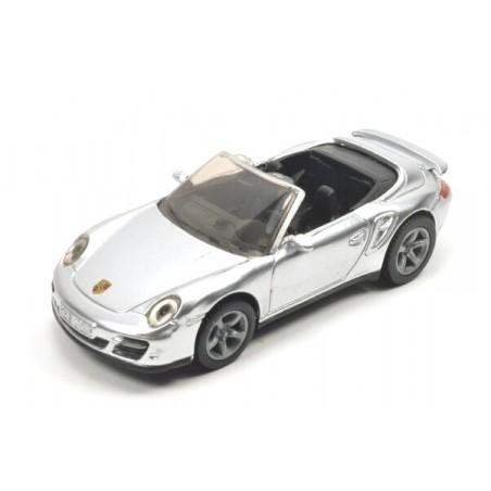 Porsche 911 Turbo cabriolet zilver