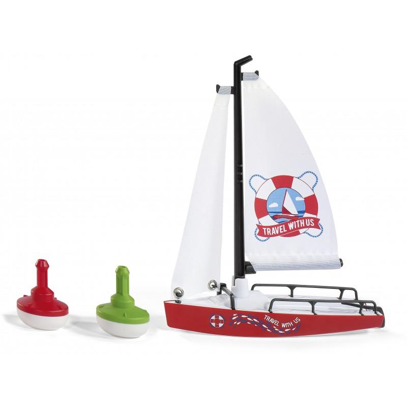 Zeilboot met 2 boeien