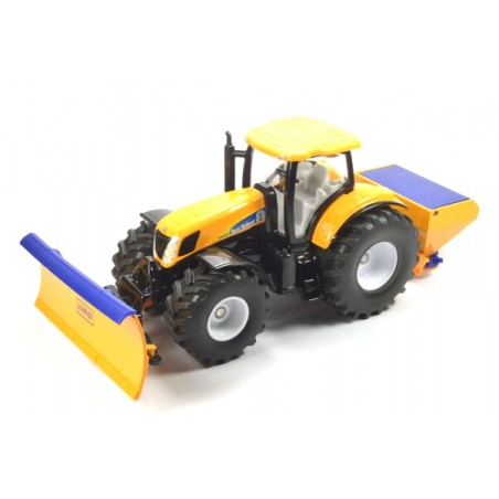 New Holland T7070 with ploughing plate and salt spreader