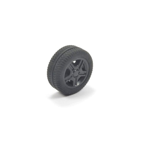 Loose wheel with black rim