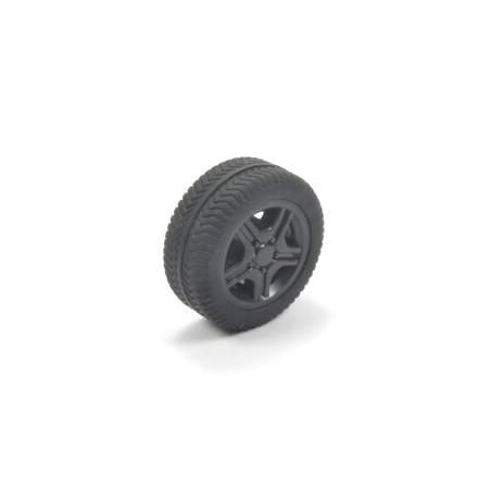 Losse wiel met zwarte velg