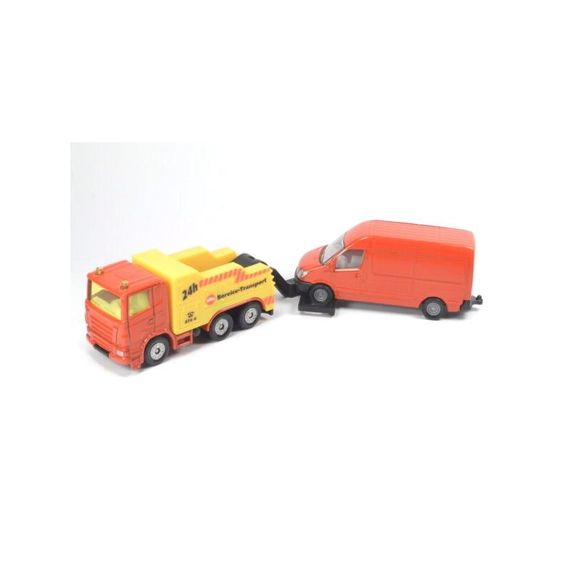 Breakdown truck with van