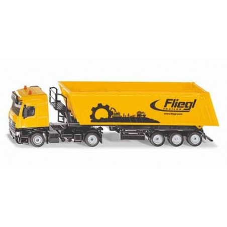 Mercedes Actros with tipping trailer Fliegl